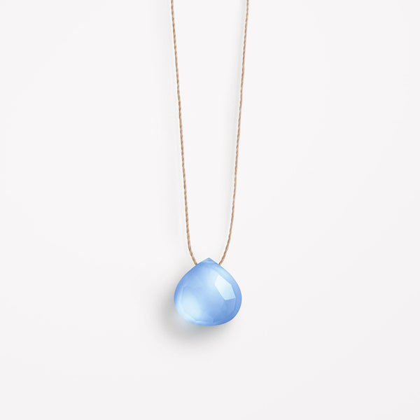 "Wanderlust Life 18"" Necklace Blue Chalcedony"