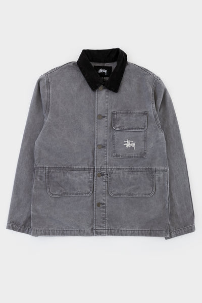Stussy Washed Chore Coat Grey