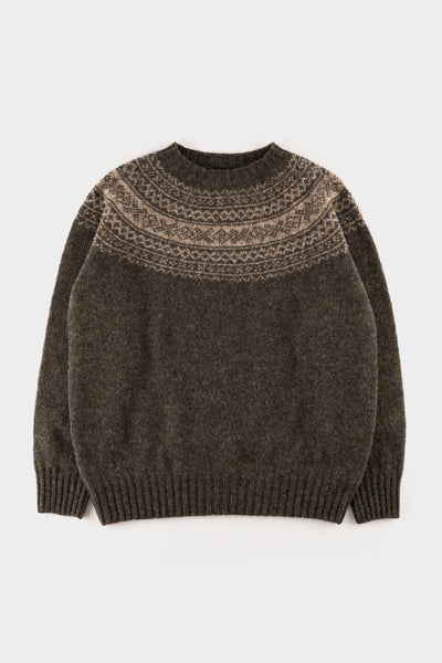 Seven.stones Womens Fairisle Sweater Granite