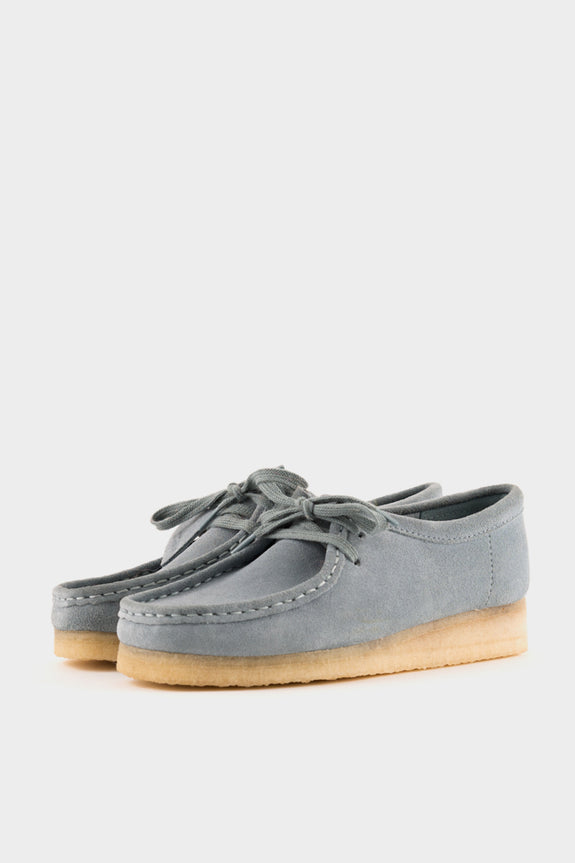 Clarks Originals Womens Wallabee Blue Grey