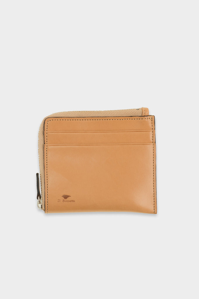 Zip Wallet Natural Leather -  - 1