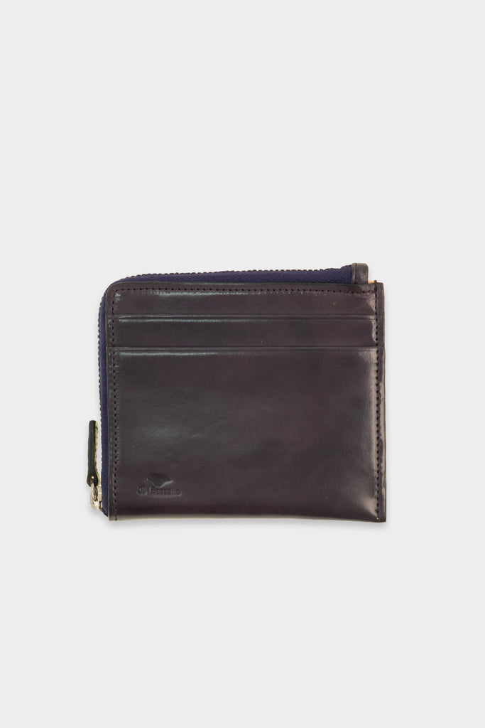 Zip Wallet Leather Purple -  - 1