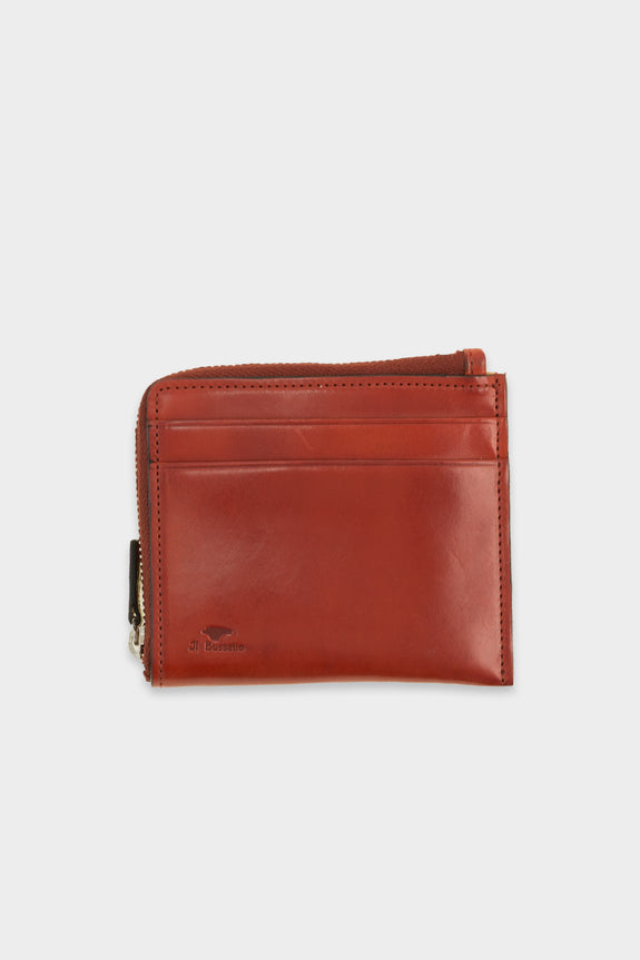 Zip Wallet Leather Red -  - 1