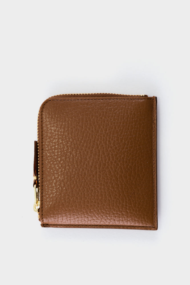 Comme Des Garçons Colour Inside Zip Wallet Brown