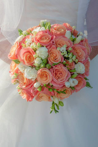 Coral Celebration Wedding Flower Package
