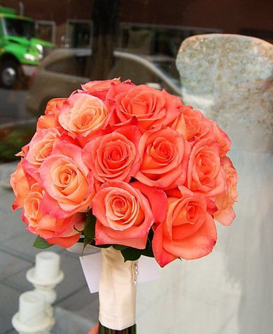 Rose Bouquet and Boutonniere Set