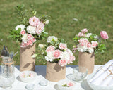 #SealedWithAKiss Vase Centerpieces