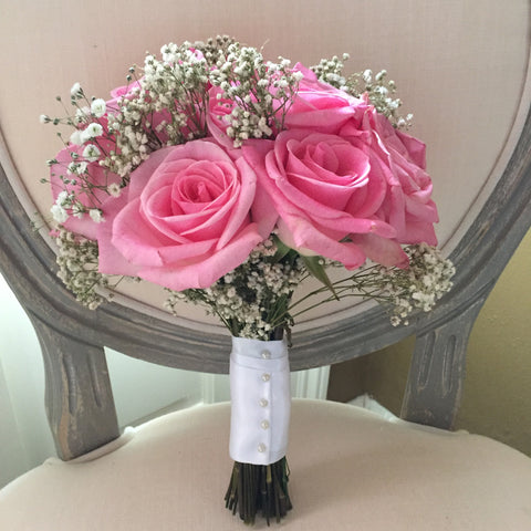 Try It Rose & Baby's Breath Bouquet