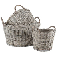 Wicker Baskets - Set of Three