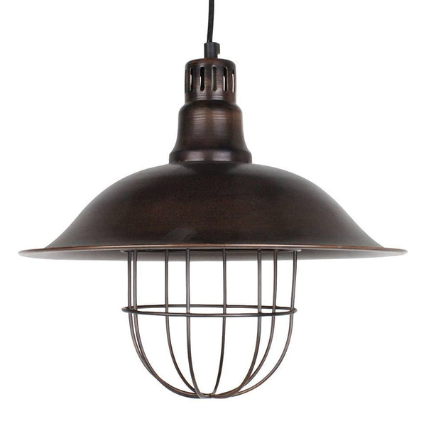 Swedish Pendant with Grill - Antique Brown