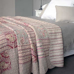 Pink Paisley Quilted Bedspread