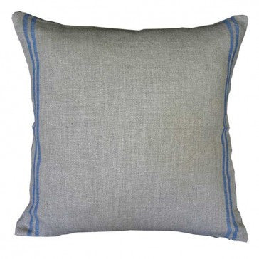 Natural Linen Blue Stripe Cushion