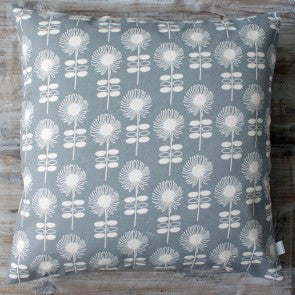 Retro Flower Dark Grey Cushion