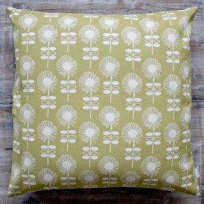 Retro Flower Dark Lime Cushion