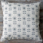 Retro Flower Linen & Grey Cushion