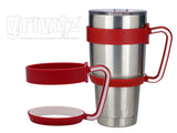 Grivitz® 30oz Handle- Fits the YETI Rambler Tumbler (Crimson/White)