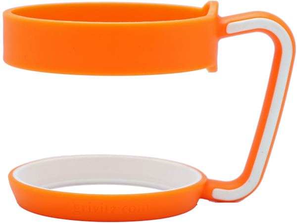 Grivitz® 30oz Handle- Fits the YETI Rambler Tumbler (Orange/White)