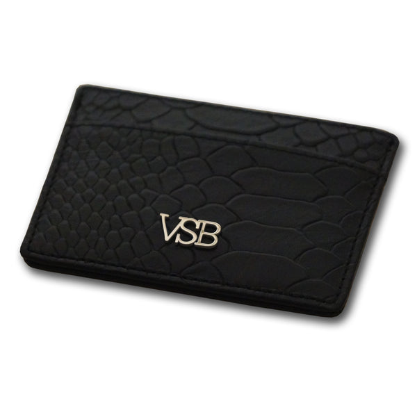 SNAKE SKIN BLACK CARD HOLDER - VSB London