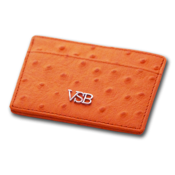 OSTRICH SKIN CARD HOLDER - VSB London