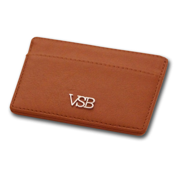 BROWN LEATHER CARD HOLDER - VSB London