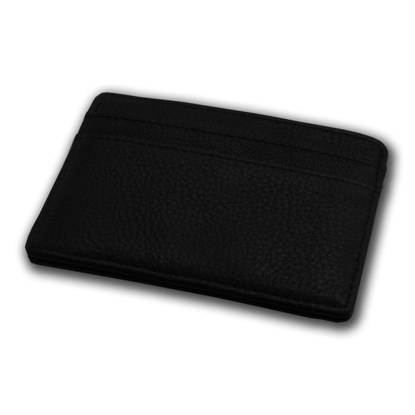 BLACK LEATHER CARD HOLDER - VSB London