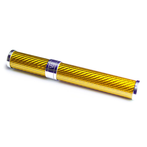 VSB London Gold Gloss Carbon Fibre Cigar Tube