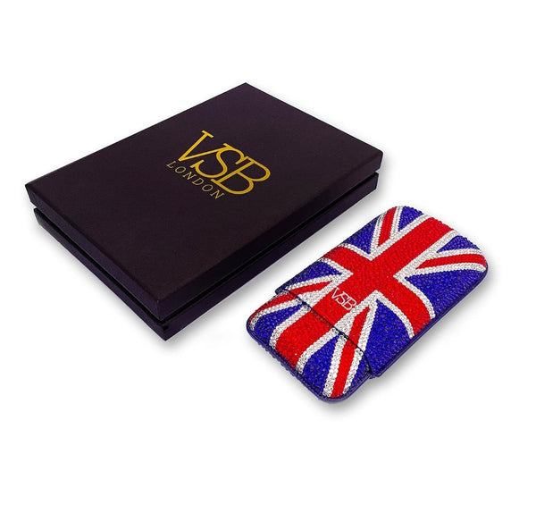Swarovski Crystal Union Jack Cigar Case