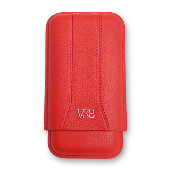 RED LEATHER CIGAR POUCH - VSB London
