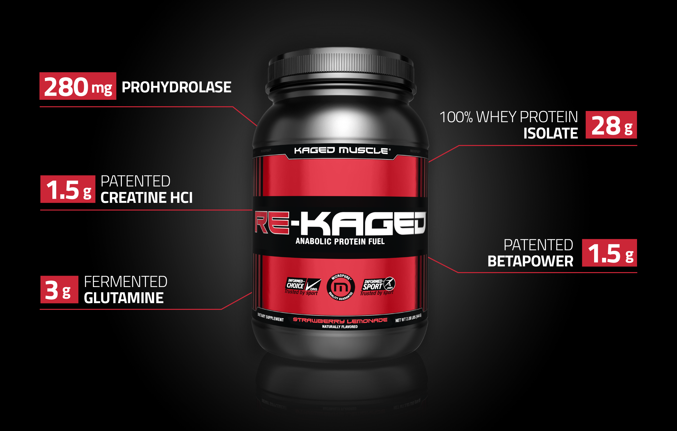 Kaged Muscle Re-Kaged - Post Workout and Recovery Supplement
