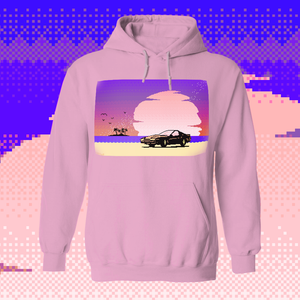 8-bit Stories Pink Sunset by palm-treat.myshopify.com for sale online now - the latest Vaporwave & Soft Grunge Clothing