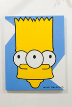 Load image into Gallery viewer, Eat my shorts! Crazy Simpsons Tapped Out wall art for sale by Palm Treat, who is the real Jeff Nolan & Marie Nolan art outsider art fold art.