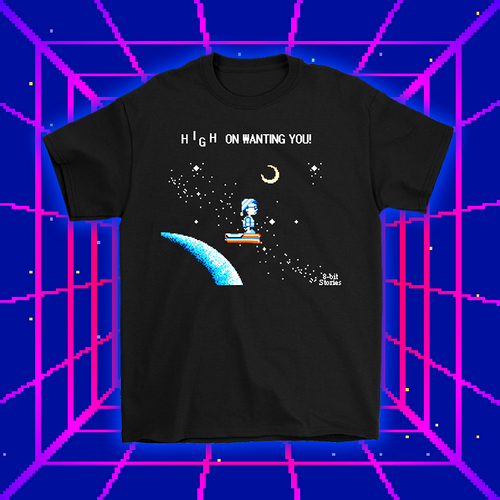 8-bit Stories High on Waiting on You T-shirt