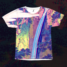 Load image into Gallery viewer, Waterfall All Over Print T-Shirt by palm-treat.myshopify.com for sale online now - the latest Vaporwave & Soft Grunge Clothing