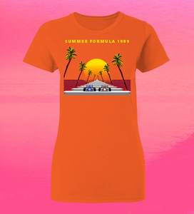 8-Bit Stories Summer Formula 1989 T-Shirt by palm-treat.myshopify.com for sale online now - the latest Vaporwave & Soft Grunge Clothing