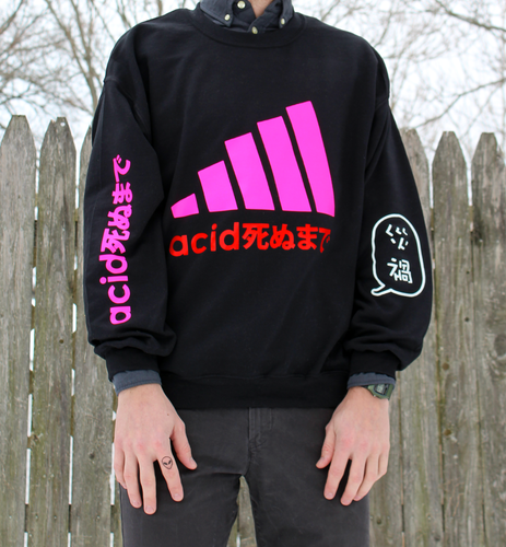 Acid Neon + Red Premium Glow in the Dark Jumper