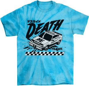 Cyberpunk Death Race Tie Die T-Shirt by palm-treat.myshopify.com for sale online now - the latest Vaporwave & Soft Grunge Clothing