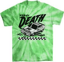 Load image into Gallery viewer, Cyberpunk Death Race Tie Die T-Shirt by palm-treat.myshopify.com for sale online now - the latest Vaporwave & Soft Grunge Clothing