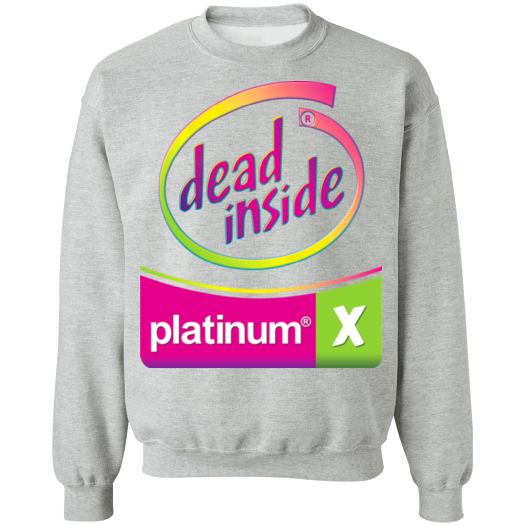 Dead Inside Neon Crewneck Sweatshirt by palm-treat.myshopify.com for sale online now - the latest Vaporwave & Soft Grunge Clothing