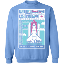 Load image into Gallery viewer, We're All Gonna Die LOL Crewneck Sweatshirt by palm-treat.myshopify.com for sale online now - the latest Vaporwave & Soft Grunge Clothing