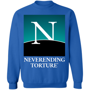 Neverending Torture Crewneck Sweatshirt by palm-treat.myshopify.com for sale online now - the latest Vaporwave & Soft Grunge Clothing