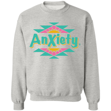 Load image into Gallery viewer, Anxiety Crewneck Sweatshirt by palm-treat.myshopify.com for sale online now - the latest Vaporwave & Soft Grunge Clothing