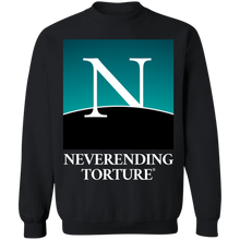 Load image into Gallery viewer, Neverending Torture Crewneck Sweatshirt by palm-treat.myshopify.com for sale online now - the latest Vaporwave & Soft Grunge Clothing
