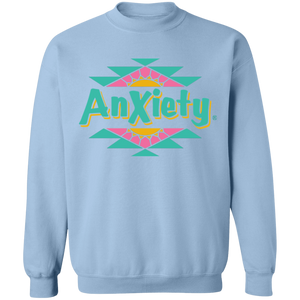 Anxiety Crewneck Sweatshirt by palm-treat.myshopify.com for sale online now - the latest Vaporwave & Soft Grunge Clothing