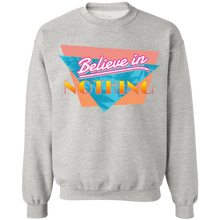 Load image into Gallery viewer, Believe in Nothing Crewneck Sweatshirt by palm-treat.myshopify.com for sale online now - the latest Vaporwave & Soft Grunge Clothing