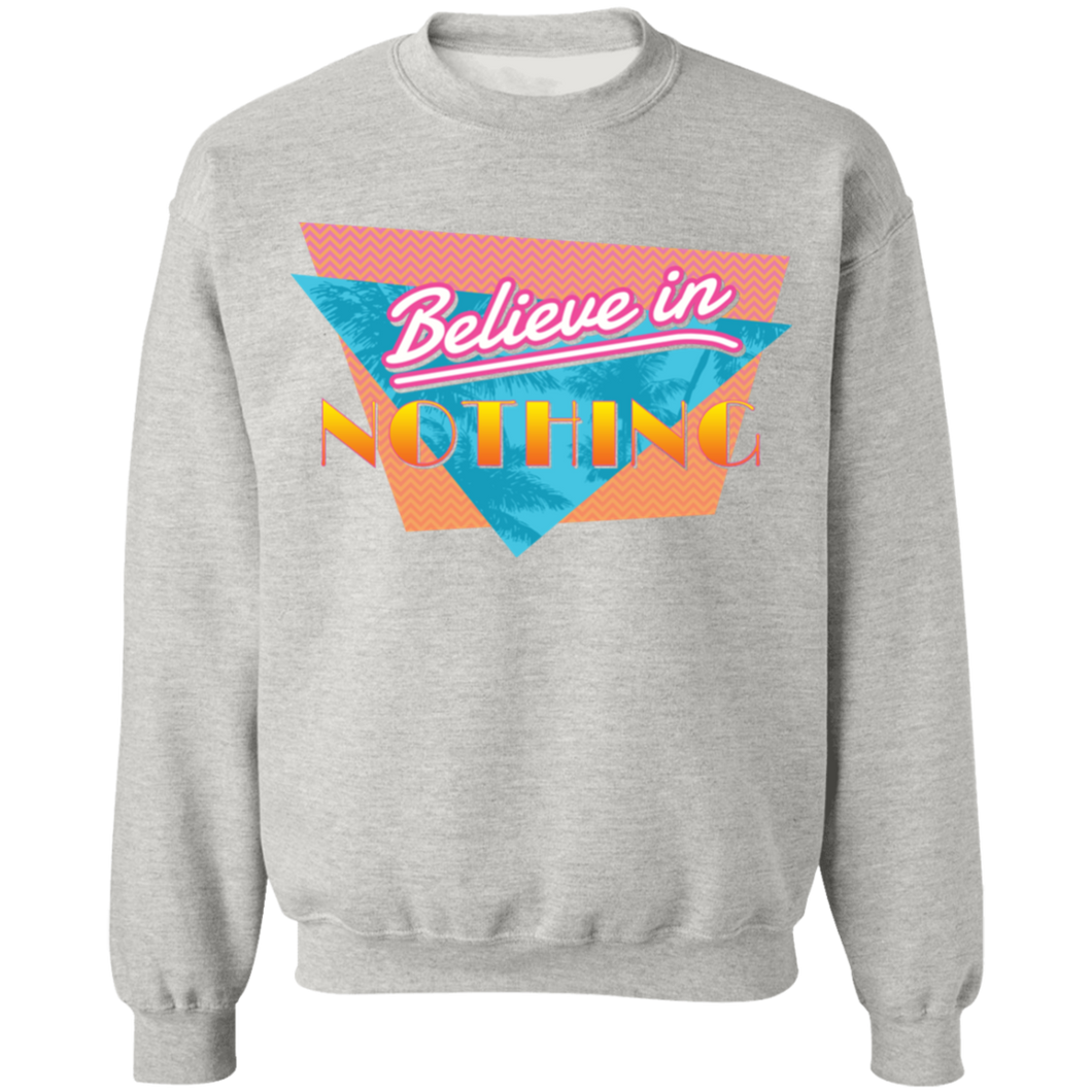 Believe in Nothing Crewneck Sweatshirt by palm-treat.myshopify.com for sale online now - the latest Vaporwave & Soft Grunge Clothing