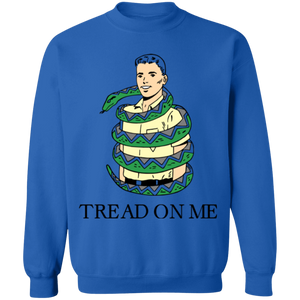 Tread on Me Crewneck Sweatshirt by palm-treat.myshopify.com for sale online now - the latest Vaporwave & Soft Grunge Clothing