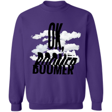 Load image into Gallery viewer, OK, Boomer Crewneck Sweatshirt by palm-treat.myshopify.com for sale online now - the latest Vaporwave & Soft Grunge Clothing