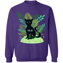 Load image into Gallery viewer, Hate You Crewneck Sweatshirt by palm-treat.myshopify.com for sale online now - the latest Vaporwave & Soft Grunge Clothing