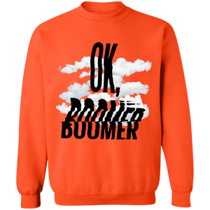 OK, Boomer Crewneck Sweatshirt by palm-treat.myshopify.com for sale online now - the latest Vaporwave & Soft Grunge Clothing