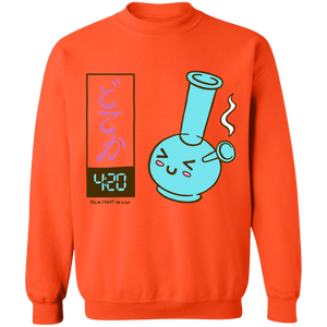 It's 4:20 Somewhere Crewneck Sweatshirt by palm-treat.myshopify.com for sale online now - the latest Vaporwave & Soft Grunge Clothing